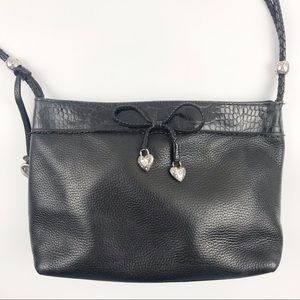 Brighton Leather Shoulder Bag Purse Braided Strap
